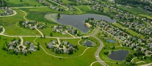 Aerial view of Prairie Crossing, which celebrates its 20th birthday this August!